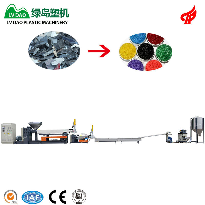 45kw Power PP Plastic Recycling Machine Plastic Extrusion Machine One Year Warranty